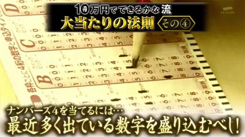 【テレビで紹介】ナンバーズ4大当たりの法則とは?
